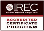 IREC Accredited Cerificate Program logo