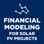 financial modeling for solar PV projects online course logo